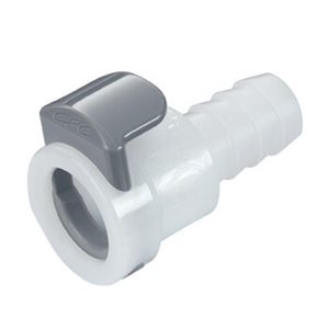 3 / 8 In-Line Hose Barb Non-Valved Acetal (POM) Coupling Body
