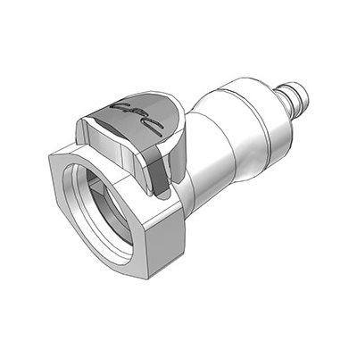 3 / 8 Hose Barb Valved In-Line Polysulfone Coupling Body