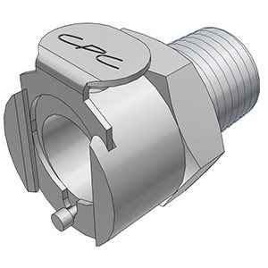 1 / 4 BSPT Non-Valved Chrome-plated Brass Coupling Body