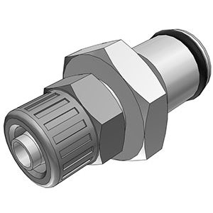 1 / 4 PTF Non-Valved In-Line Chrome-plated Brass Coupling Insert