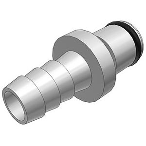 5 / 16 Hose Barb Non-Valved In-Line Chrome-plated Brass Coupling Insert