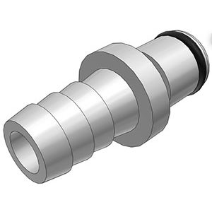 3 / 8 Hose Barb Non-Valved In-Line Chrome-plated Brass Coupling Insert