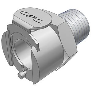 1 / 4 BSPT Valved Chrome-plated Brass Coupling Body