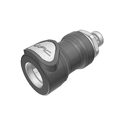 1 / 8 Hose Barb Valved In-Line Molded Grey Polypropylene Coupling Body