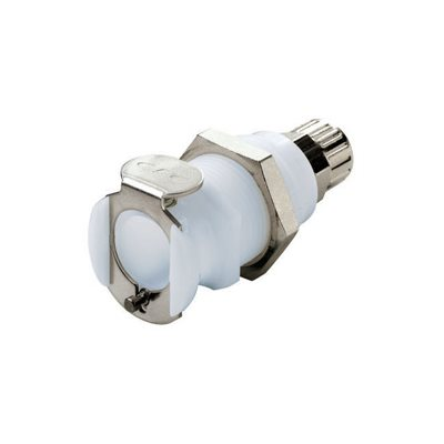 1 / 4 PTF Non-Valved Panel Mount Acetal Coupling Body