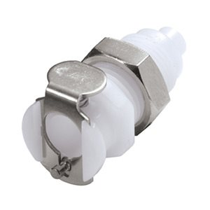 1 / 16 Hose Barb Non-Valved Panel Mount Acetal Coupling Body