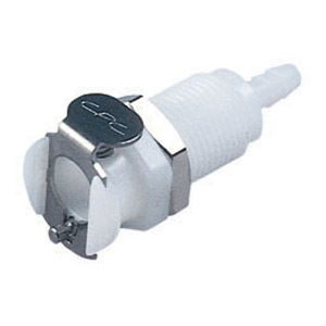 1 / 8 Hose Barb Non-Valved Panel Mount Acetal Coupling Body