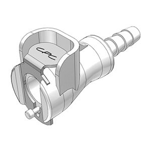 3 / 16 Hose Barb Non-Valved In-Line Acetal Coupling Body