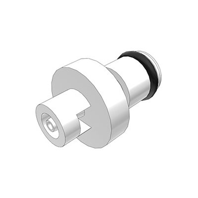1 / 16 Hose Barb Non-Valved In-Line Acetal Coupling Insert